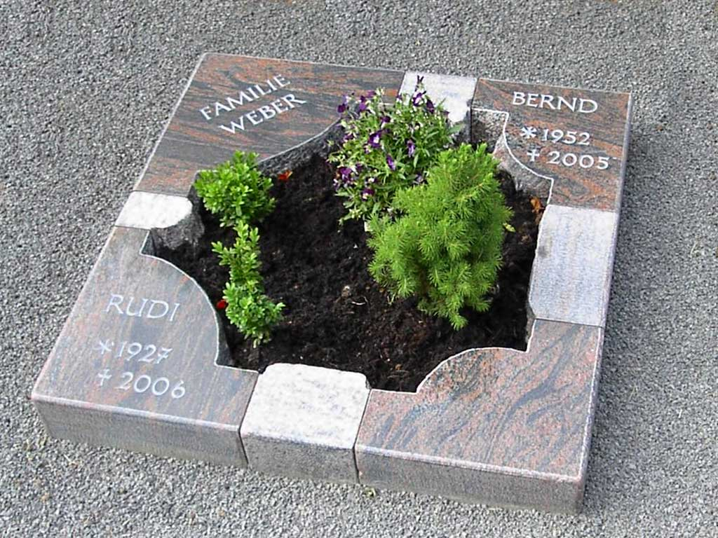 Urnengedenkstätte aus Nordlandgranit